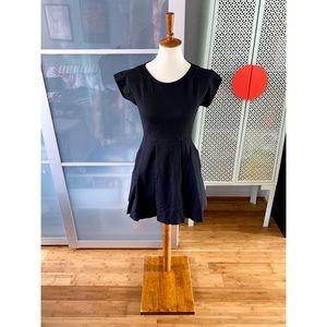 Madewell Matinee Cap Sleeve Black Dress